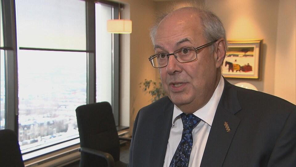 Le Dr Louis Godin, président de la Fédération des médecins omnipraticiens du Québec.