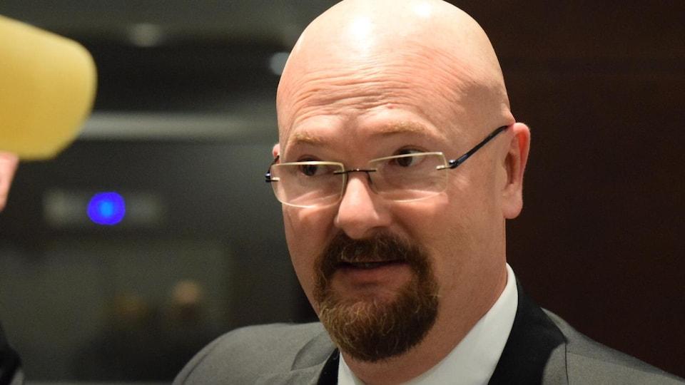 Louis-Philippe Gauthier de la Fédération canadienne de l'entreprise indépendante.