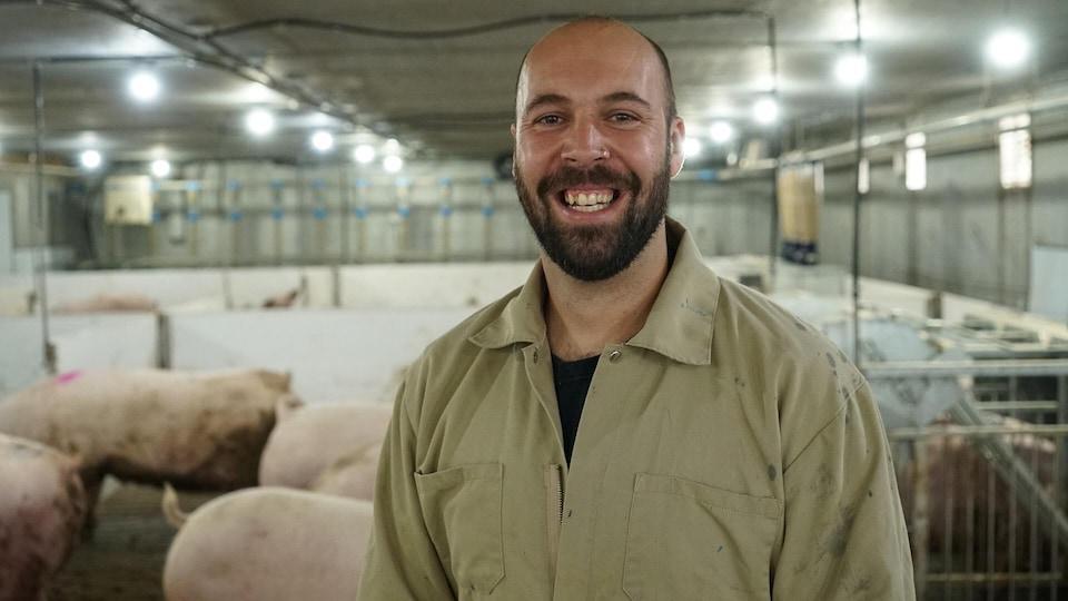Louis-Phillipe Roy est producteur de porcs à Saint-Michel-de-Bellechasse et président des Éleveurs de porcs des deux rives