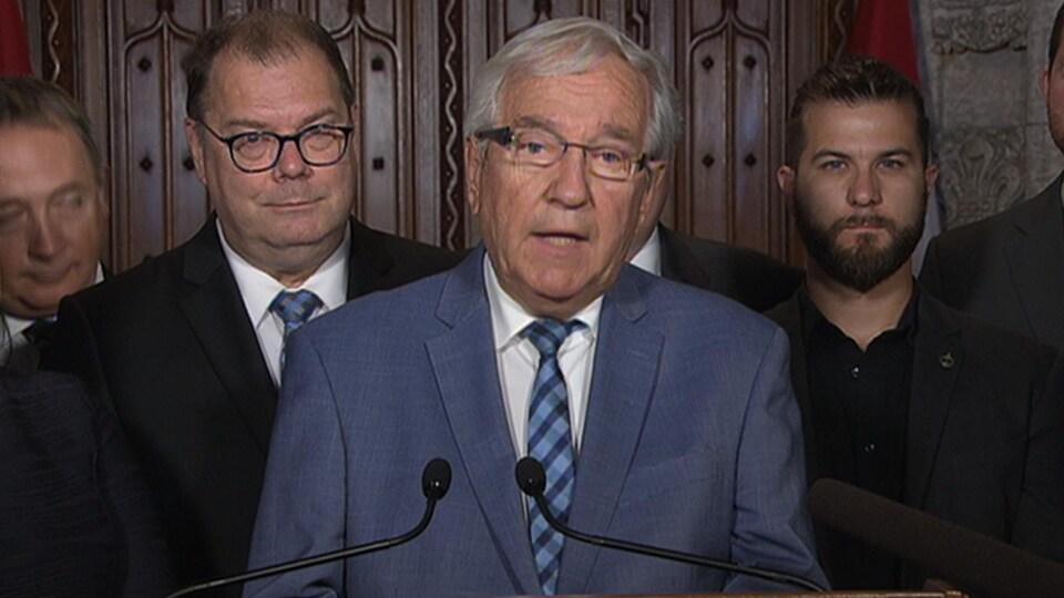 Le doyen du Bloc québécois, le député de Bécancour-Nicolet-Saurel, Louis Plamondon