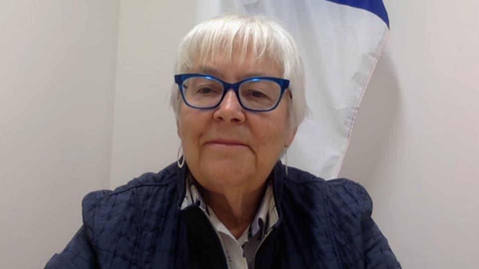 Louise Imbeault, présidente de la Société Nationale de l'Acadie.