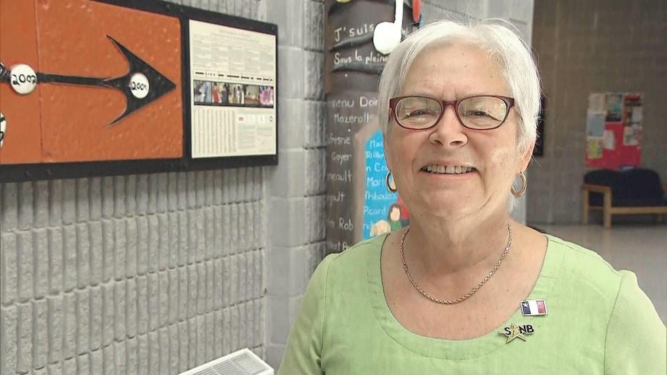 Louise Imbeault en entrevue à Fredericton le 15 juin 2019.