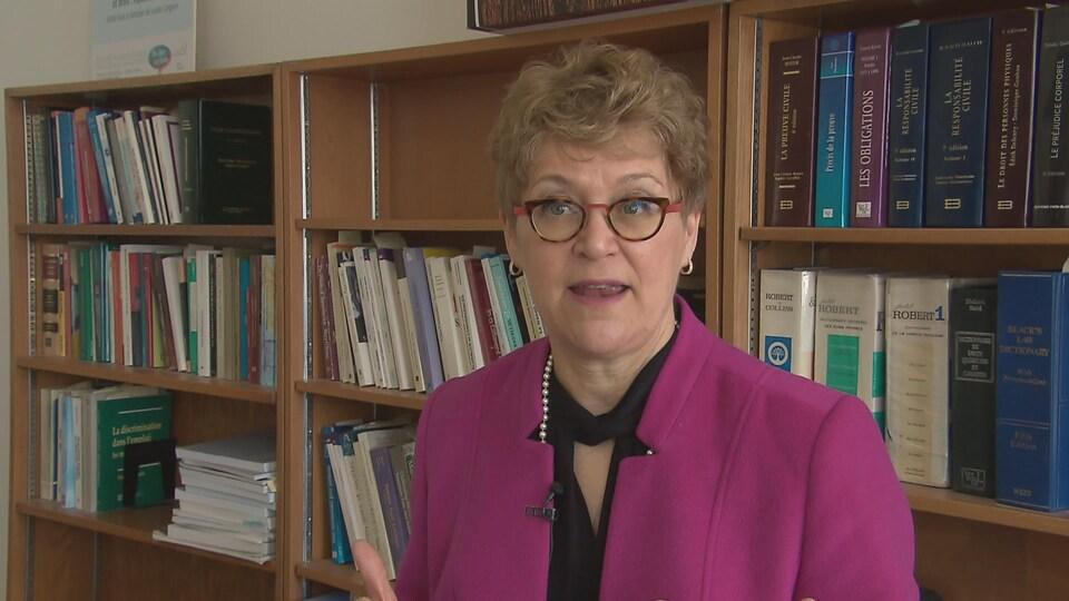 Louise Langevin, de la faculté de droit de l'Université Laval