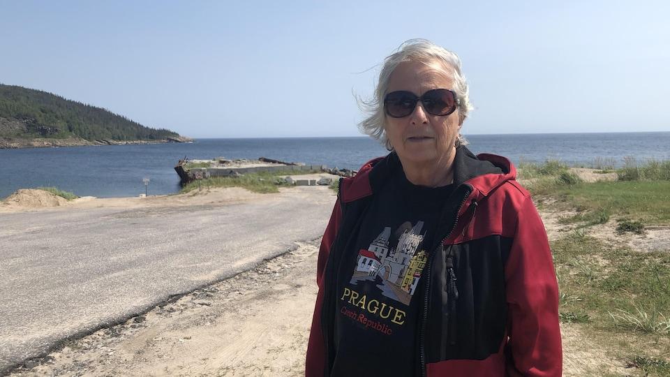 Louise Théroux rencontrée près du quai.