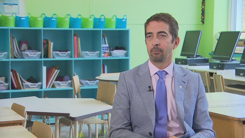 Luc Galvani, le directeur général du Centre de services scolaire du Chemin-du-Roy