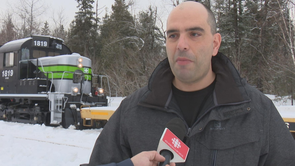 Luc Lévesque, directeur général de la Société de chemin de fer de la Gaspésie
