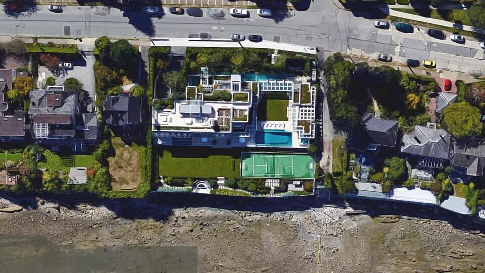 Image Google Earth d'une propriété résidentielle.