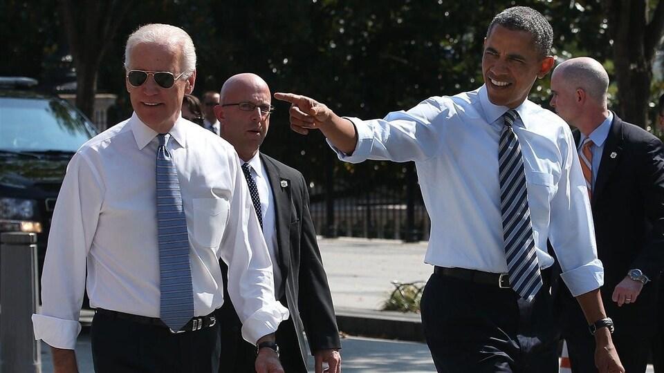 Joe Biden et Barack Obama.