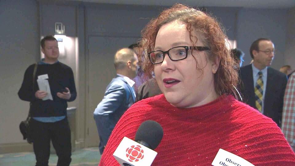 Lyne Morissette à Dartmouth en Nouvelle-Écosse le 23 octobre 2018.