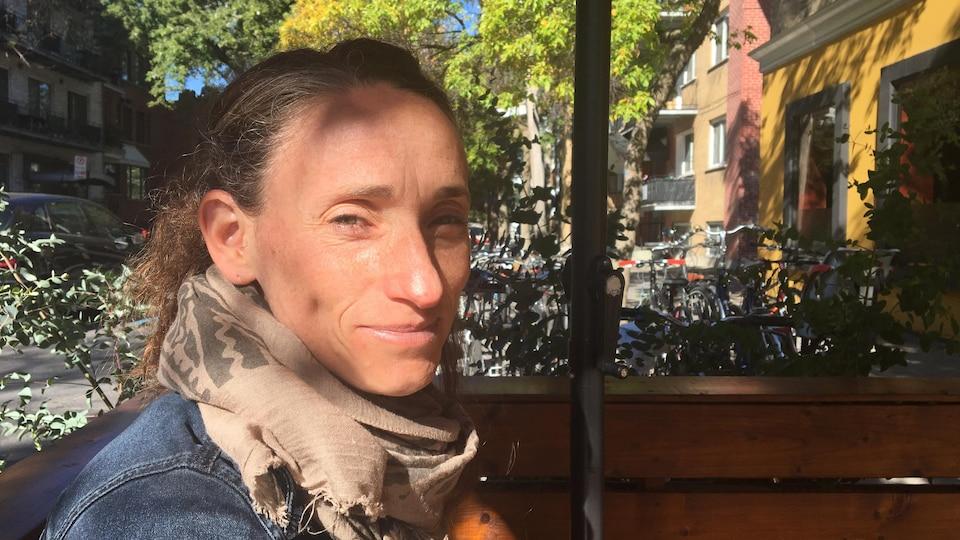 La porte-parole de Projet Montréal en matière de transport actif, Marianne Giguère