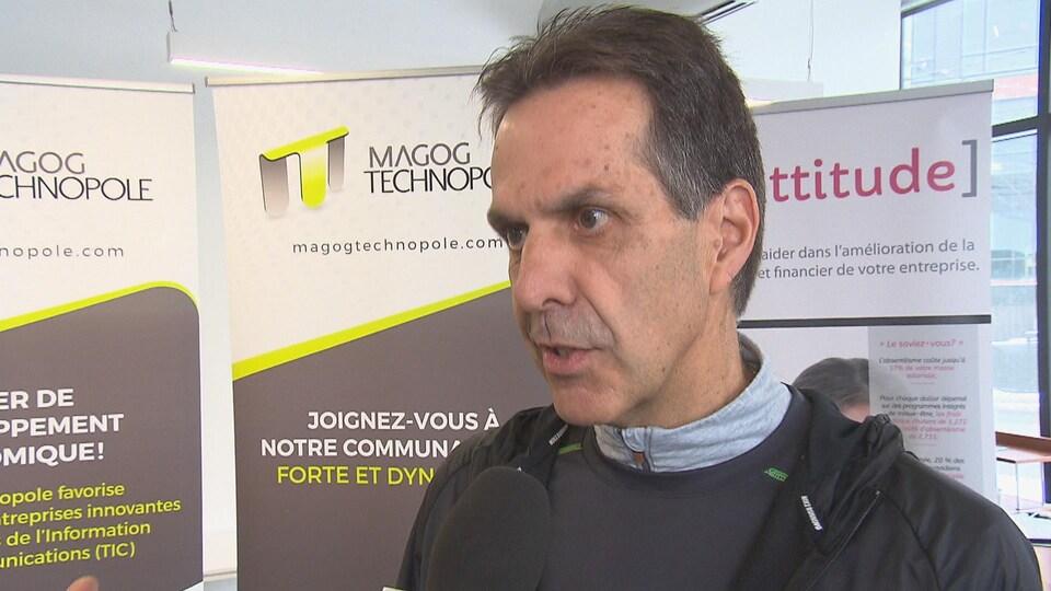 Le directeur général de Magog Technopole, André Métras.