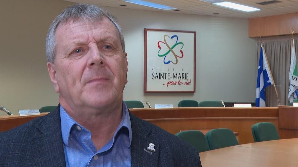 Le maire de Sainte-Marie, Gaétan Vachon.