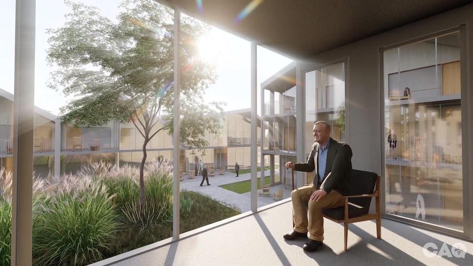 Image tirée de la vidéo de présentation des Maisons des aînés de la Coalition avenir Québec