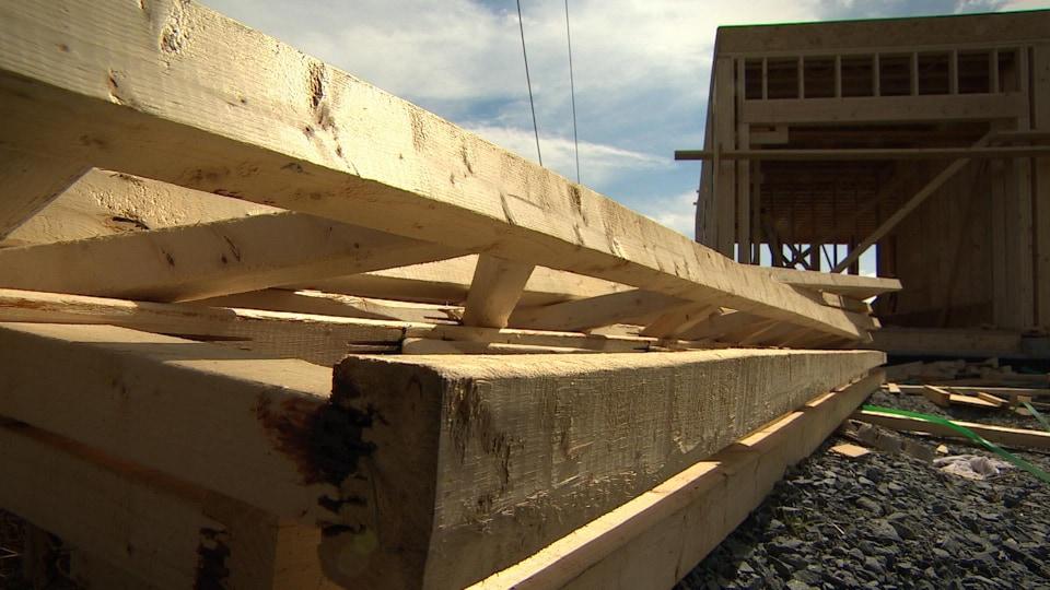 Une maison en construction à Halifax en Nouvelle-Écosse.
