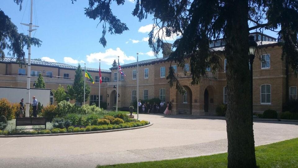 Vue de l'extérieur de la Maison du gouvernement de la Saskatchewan