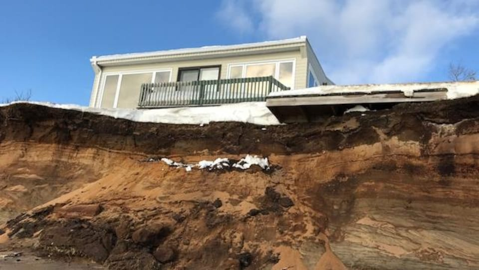 La résidence de François Turmel après la tempête du 30 décembre 2016.