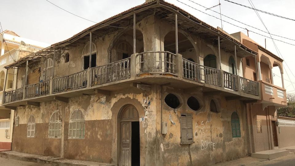 Une maison en mauvais état.