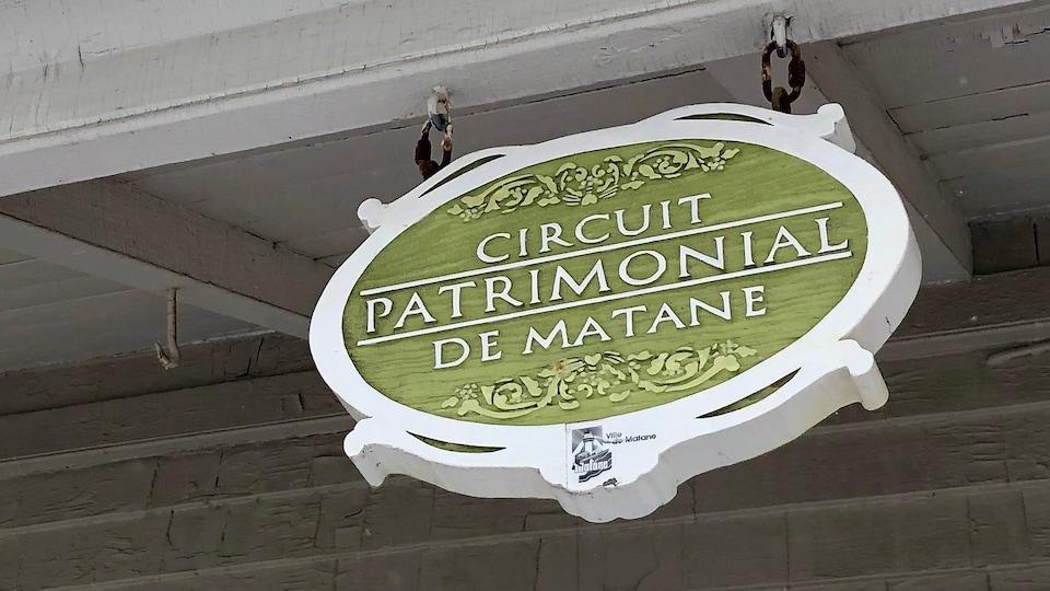 Pancarte du circuit touristique.