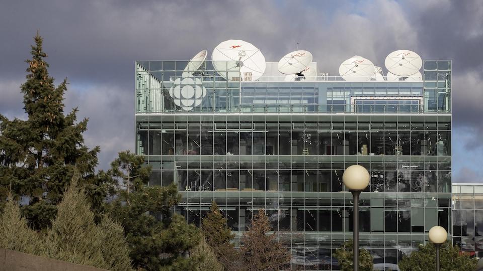 Vue sur la nouvelle maison de Radio-Canada.