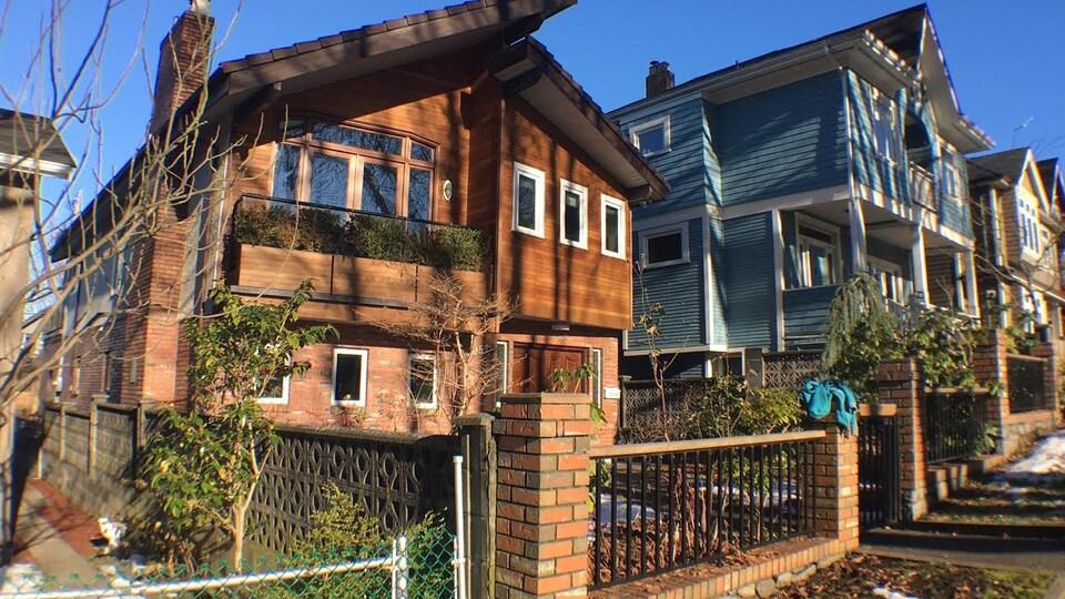 Des maisons à Vancouver.