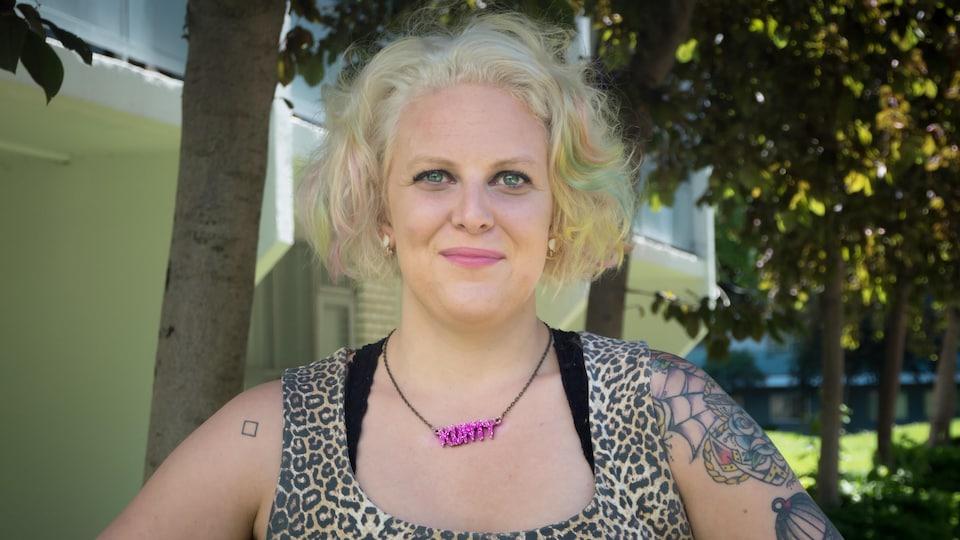 Mandy Gray, qui a été victime d'une agression sexuelle à l'université qu'elle fréquentait.