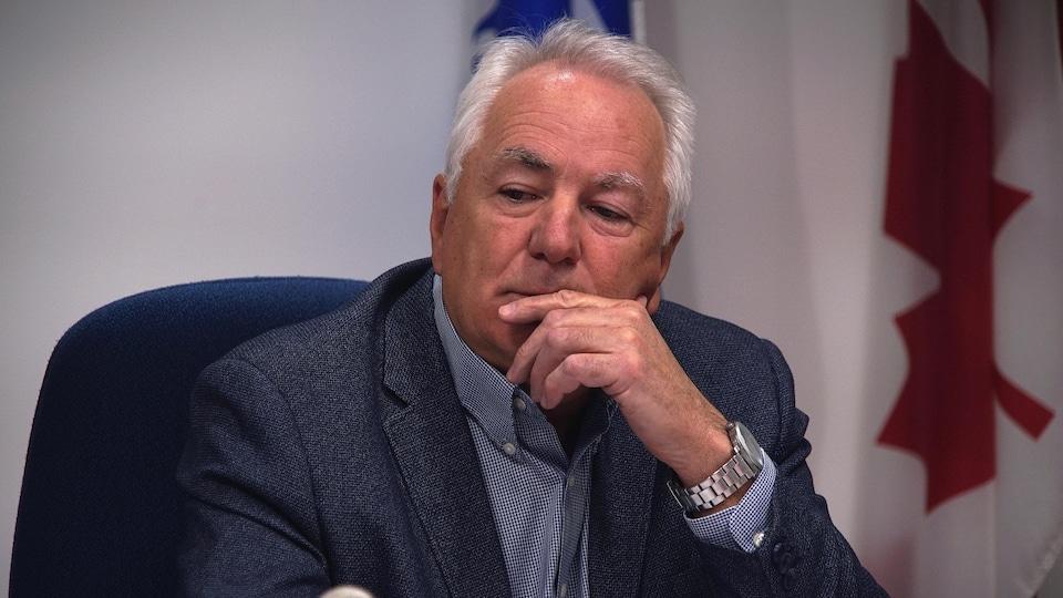 Le préfet de la MRC de Manicouagan, Marcel Furlong