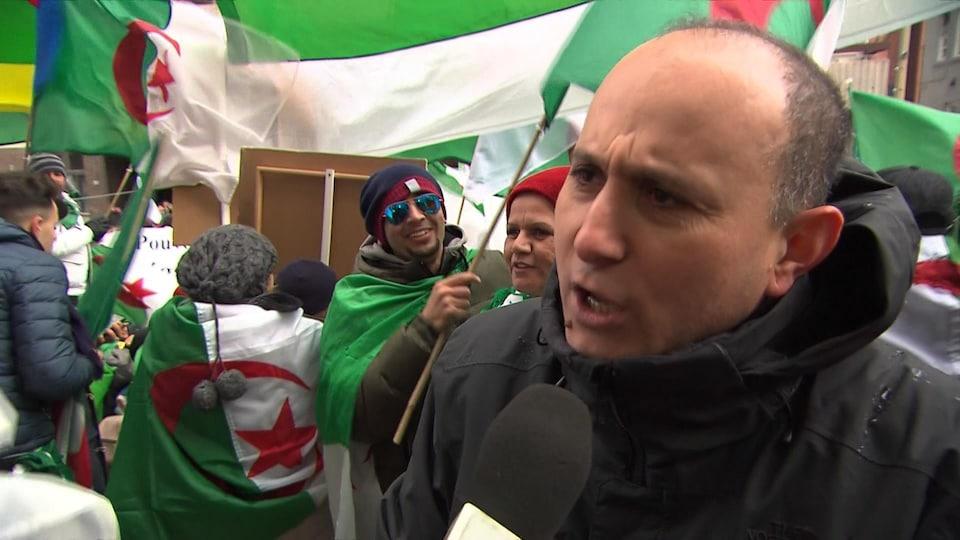 Kamel Moktesi, coorganisateur de la manifestation à Montréal.