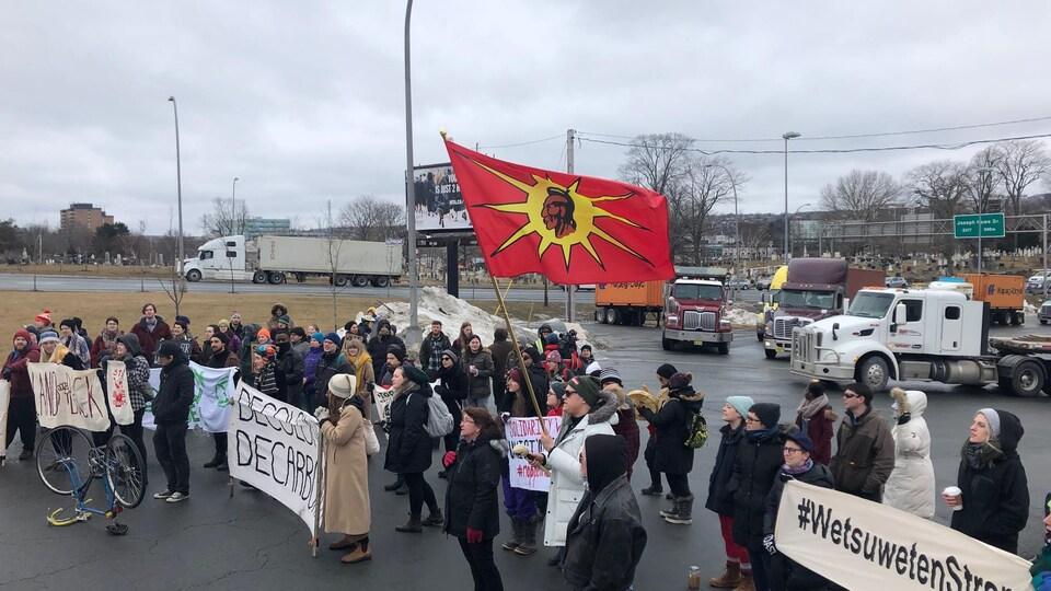 Manifestation à Halifax.