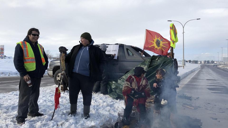 Les manifestants.