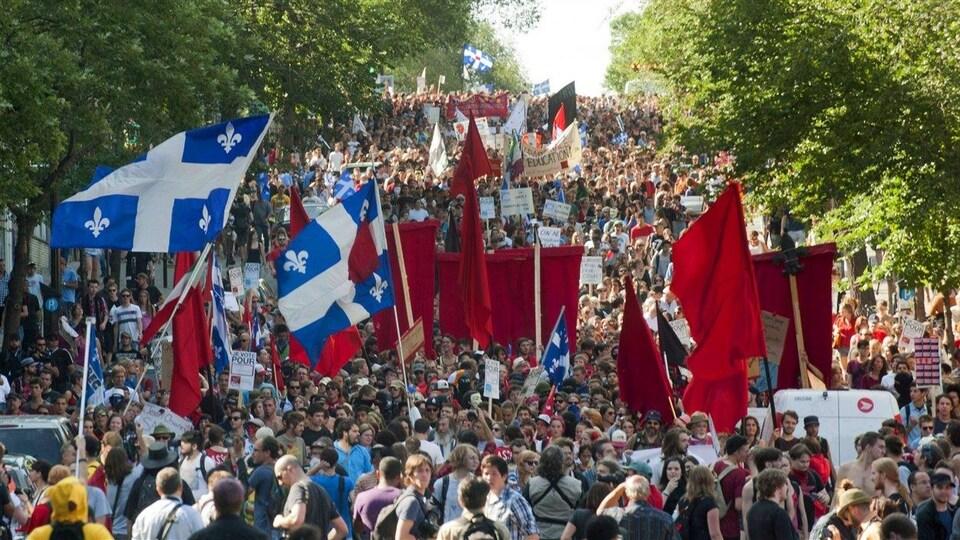 Une manifestation étudiante au printemps 2021.