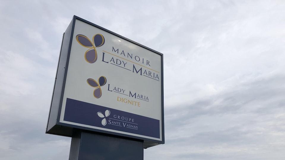 Affiche de la résidence pour aînés Lady Maria.