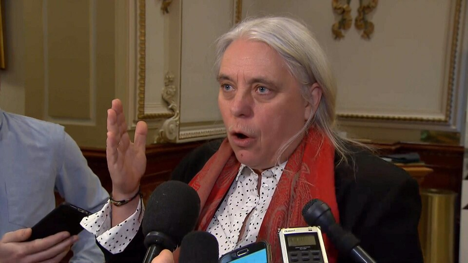 La co-porte-parole de Québec solidaire, Manon Massé.