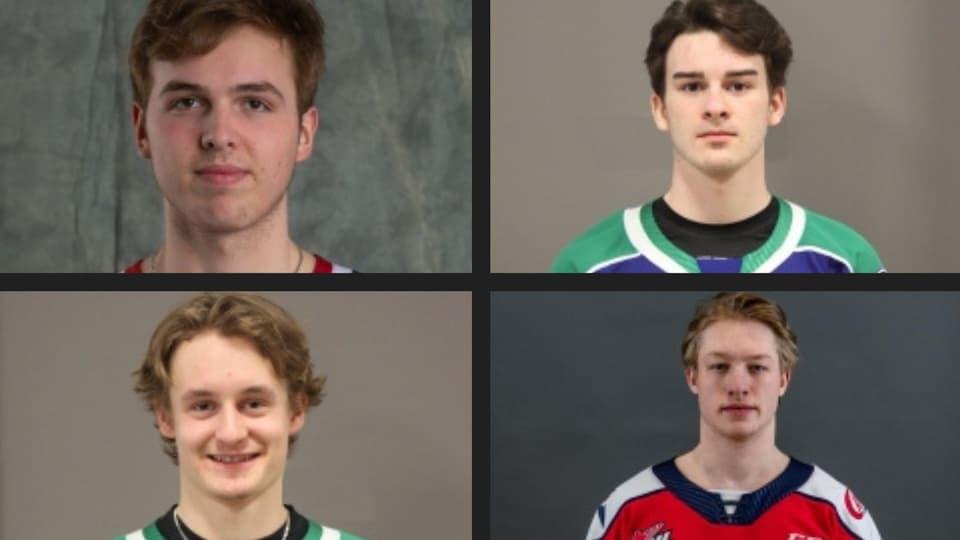 Les photos officielles des quatre joueurs.
