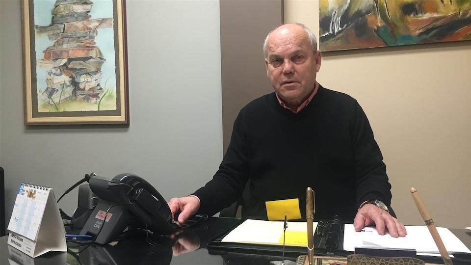 L'avocat et bâtonnier de l'Abitibi-Témiscamingue, Marc Lemay, dans son bureau du cabinet DBP Avocats, à Rouyn-Noranda