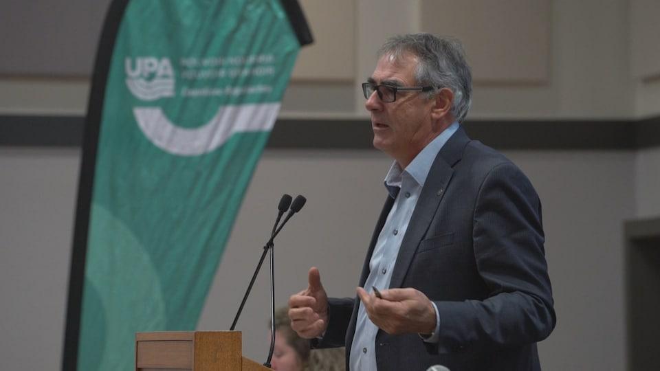 Le président de l'Union des producteurs agricoles du Québec, Marcel Groleau.