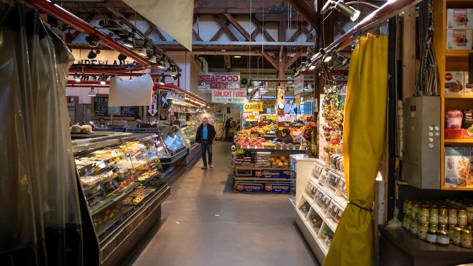 Le marché de l'île Granville .