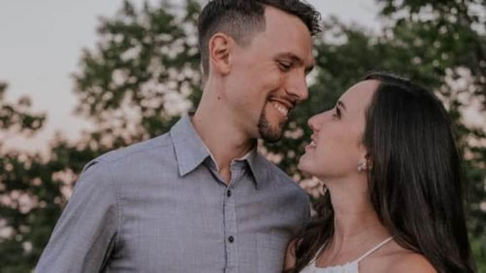Le couple d'amoureux, Éric Loranger et Karine Senécal-Tremblay.