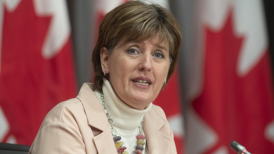 Marie-Claude Bibeau, en conférence de presse.