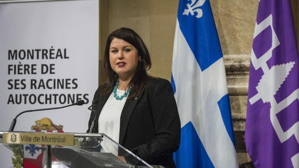 La commissaire aux relations avec les peuples autochtones à la Ville de Montréal, Me Marie-Ève Bordeleau.