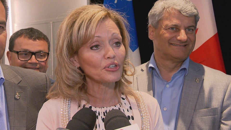 La candidate conservatrice de Louis-Hébert est Marie-Josée Guérette.