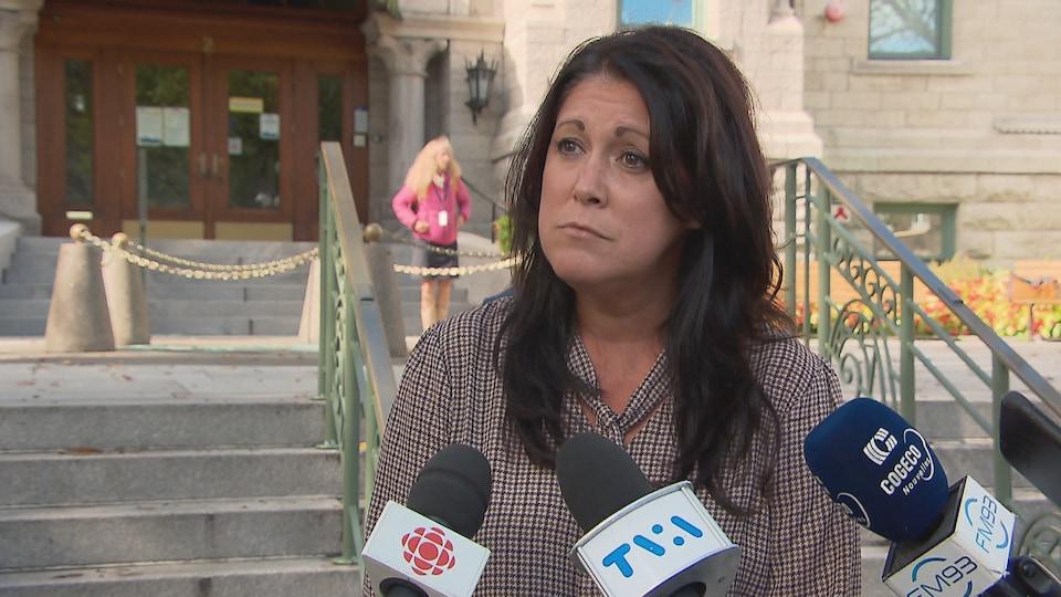 Marie-Josée Savard, candidate à la mairie de Québec.