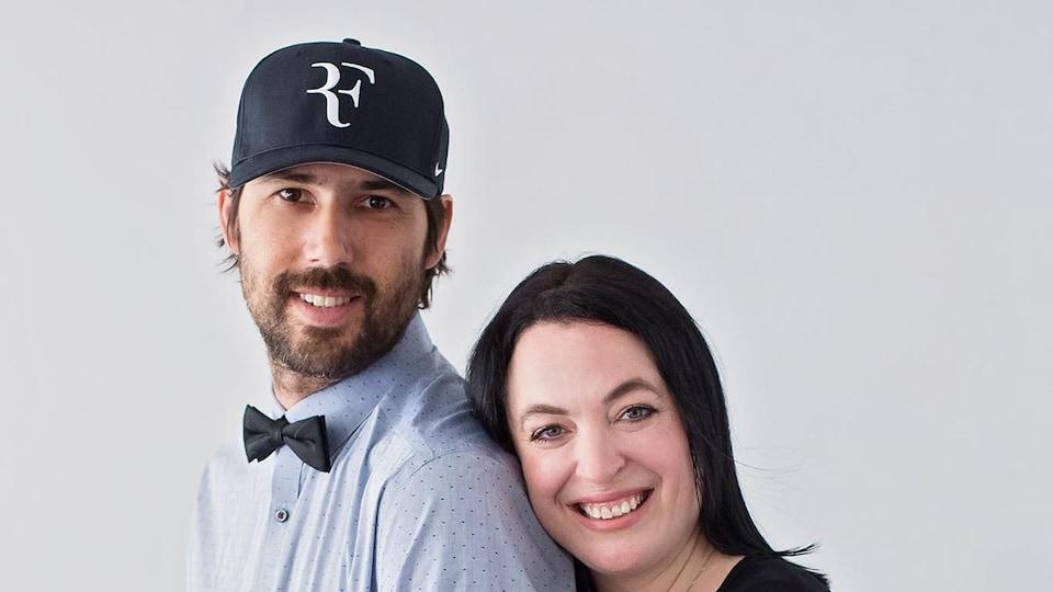 Marie-Sol St-Onge et son conjoint Alin en 2017