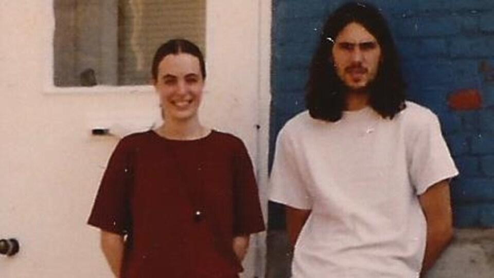 Marie-Sol St-Onge et son conjoint Alin en 1996