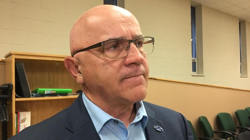 M. Crevier en entrevue lors de la rencontre des commissaires le 22 août 2019.