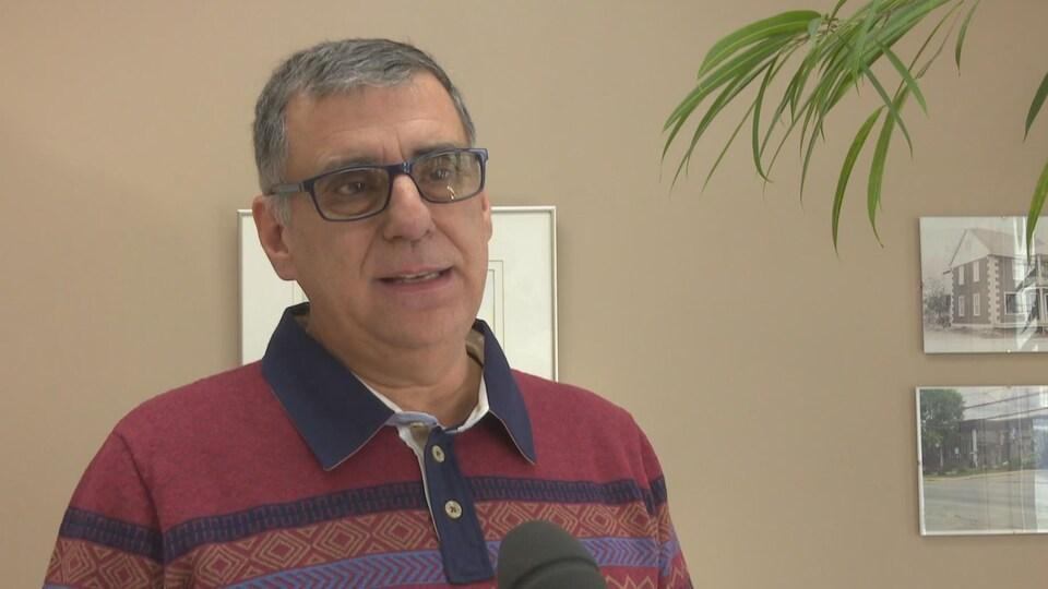 Le maire de Normandin, Mario Fortin