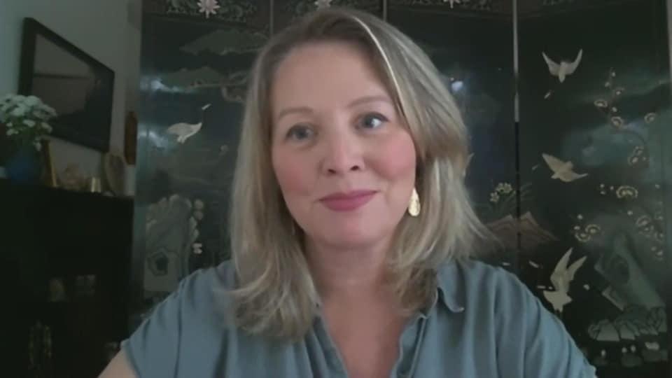 La députée néo-démocrate Marit Stiles en entrevue par vidéoconférence.