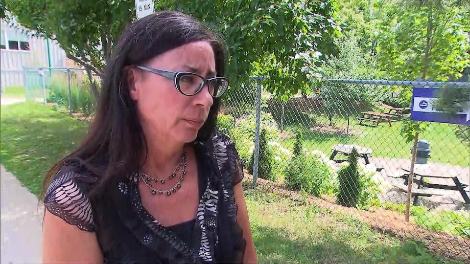 Marjolaine Aubé en entrevue.