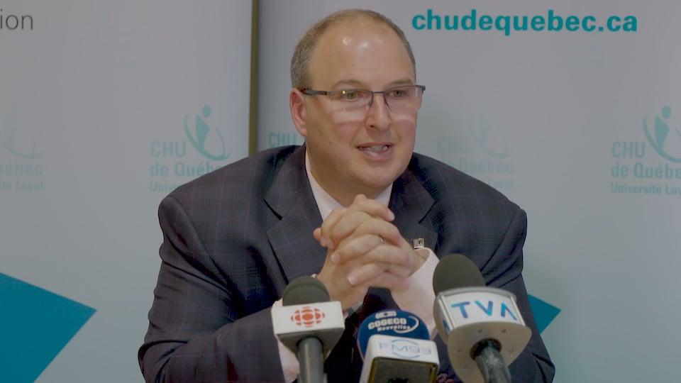 Le PDG du CHU de Québec, Martin Beaumont