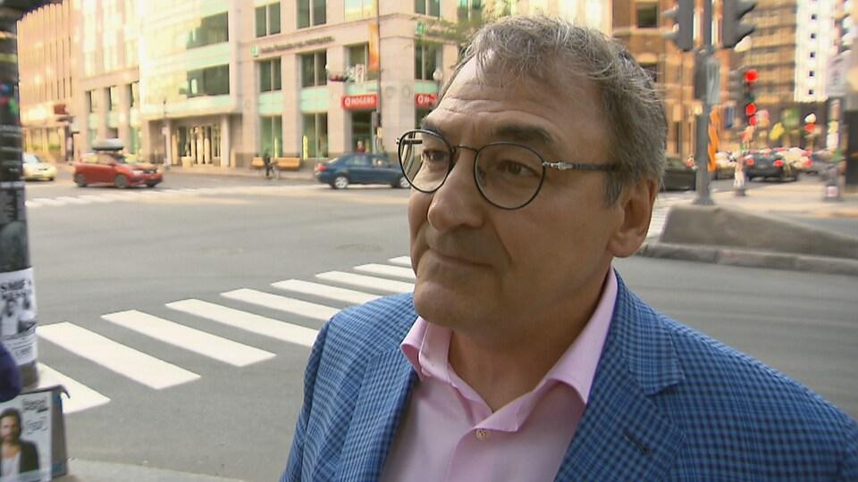 Martin Cauchon, propriétaire de Capitales Médias lors d'une entrevue le 4 juillet 2018