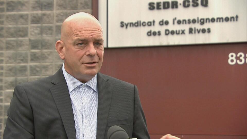 Martin Hogue, président du Syndicat de l'enseignement des Deux-Rives